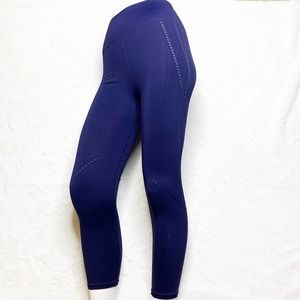 FABLETICS High-Waist Blue Perforated 7/8 Tights